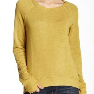H by Bordeaux For Anthropologie sz S top mustard